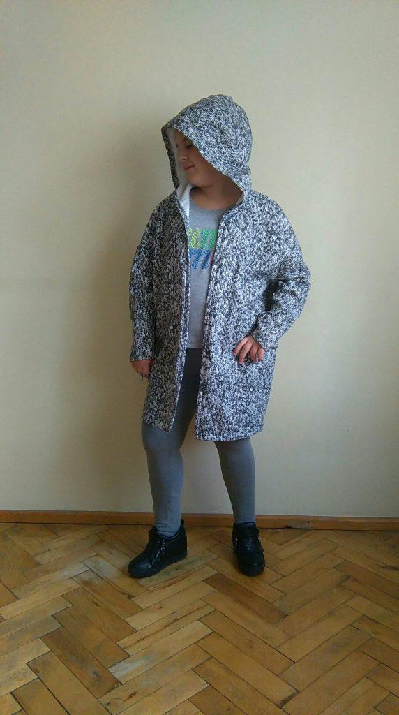 oversize overcoat with a hood
