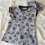 Sukienka kółko i krzyżyk w rozmiarze 86