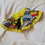Spódnica z pełnego koła z nadrukiem komiks z falbanką