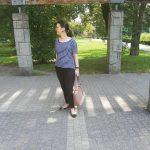 Czarne bawełniane spodnie typu Chinosy